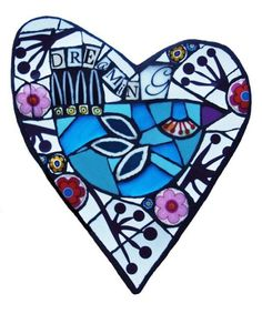 mosaic heart by Amanda Anderson