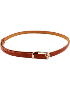 Fashion Brown Buckle Belt - Sheinside.com