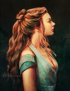 Beautiful Digital Painting of Margaery Tyrell by Alice X. Zhang #gameofthrones #asoiaf