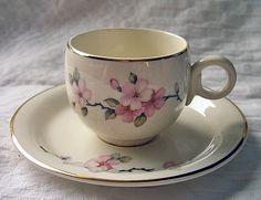 Vintage Homer Laughlin Apple Blossom Cup & Saucer