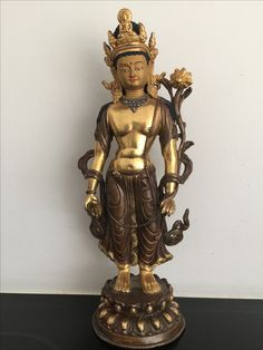 Standing bronze/copper Buddha. Bhutan. 20th cent.