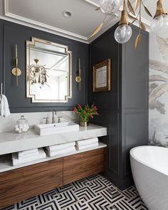 Dream Bathrooms, Beautiful Bathrooms, Small Bathroom, Bathroom Design Inspiration, Bathroom Interior Design, Beautiful Interior Design, Bath Design, Home Office, Houston