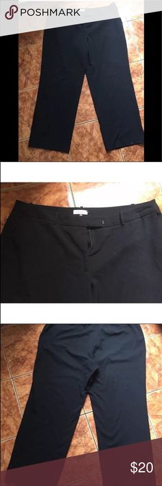 """Calvin Klein Black Wide Flare Leg Plus Size 18W Calvin Klein Black Wide Flare Leg Plus Size 18W Length:42""""  Inseam:28.5""""  Minor signs of wear    Check out my other items! Calvin Klein Pants Wide Leg"""
