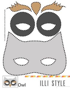 owl mask printable template - illistyle.com