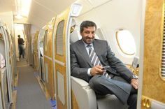 Dubai — His Highness Sheikh Ahmed bin Saeed Al Maktoum seen in one of the First… Emirates Airline, Flying First Class, Travel Pictures, Travel Pics, United Arab Emirates, Abu Dhabi, Old Town, Dubai, Aviation