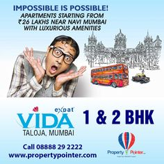 If you are looking to invest in Mumbai then Expat Vida Mumbai by Expat Group is an option that has a reputation that you can rely on. Expat Vida Mumbai by Expat Group houses which are affordable and yet is complete in every aspect is hard to find in and around Mumbai. The Expat Vida Mumbai has every luxurious facilities, and infrastructures that one can ask for at a housing complex. For more Details visit  http://www.propertypointer.com/expat-vida-2/taloja/mumbai