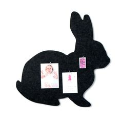 Bunny pin board in charcoal or grey - hardtofind.