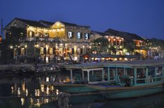 """Beautiful Hoi An riverfront by night. Often maligned for being a tourist """"trap"""" but remains a stunning town. [OC] (x-post from /r/VietNam)"""