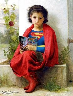 What I love most about this mashup is that Superman could be either a little boy or a little girl.