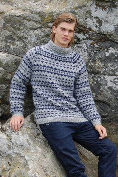 Vis detaljer for Retro Sweater model 3 - Knitting Designs, Knitting Patterns, Sweater Jacket, Men Sweater, Nordic Sweater, Wool Sweaters, Knitwear, Knit Crochet, Groomsmen