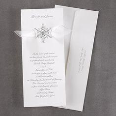 Shimmering Snowflake - Invitation - Winter Wedding Invitations - Wedding In Winter