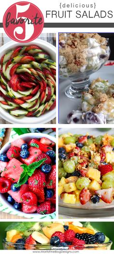 Amazing delicious fruit salad recipes that are perfect for your spring or summer gathering around the table.