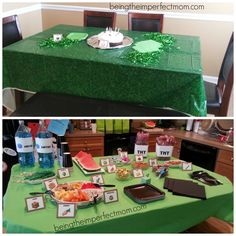 Minecraft birthday party decorations with free printables