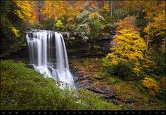 Autumn at Dry Falls - Highlands NC Waterfalls by Dave Allen Photography, via Flickr
