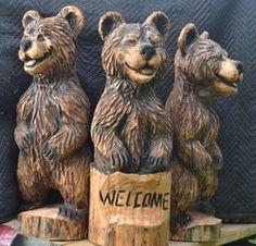 Chainsaw Wood Carving, Dremel Wood Carving, Wood Carving Art, Wood Sculpture, Sculptures, Handmade Walking Sticks, Simple Wood Carving, Wood Carving Designs, Got Wood