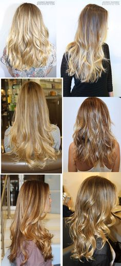 one from left, gorgeous light golden blonde hair :) Permed Hairstyles, Pretty Hairstyles, Bronde Hair, Golden Blonde Hair, Light Hair, Dream Hair, How To Make Hair, Hair Today, Ombre Hair