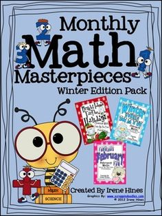 Monthly Math Masterpieces~Winter Edition Pack Of Math Puzzles: Color By The Code     This pack includes all three of my winter color by the code math sets: December, January and February for a total of 16 printable puzzles! This set was created to save you money!