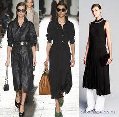 Черные платья весна-лето 2017: модные принципы, фасоны, декор и актуальные материалы