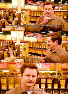 Parks and Recreation-I feel the same way about natural foods stores. Parks and Recreation-I feel the same way about natural foods stores. Parks And Recreation, Parks And Rec Ron, Parks And Recs, Dundee, Alter Ego, Tv Funny, Funny Stuff, Funny Shit, Funny Things