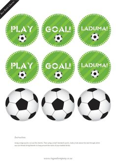 FREE soccer cupcake toppers and free soccer party printables. these are awesome! Such a quick and simple accent for a party! Soccer Birthday Parties, Soccer Party, Sports Party, Soccer Banquet, Soccer Theme, Party Printables, Soccer Cupcakes, Team Mom, Partys
