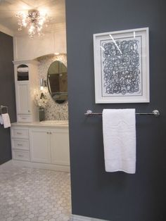 Sherwin Williams Gibraltar. Master bathroom!   Use the shade or two lighter for master bedroom