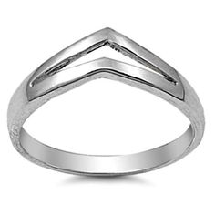.925 Sterling Silver Ring size 10 Chevron Midi Knuckle Ladies Thumb New p90…