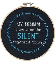 Say It! in cross stitch-Silent Treatment