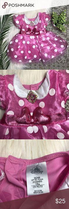 #2 Custom Handmade Disney Minnie Mouse inspired everyday Costume dress sz 2t-8y