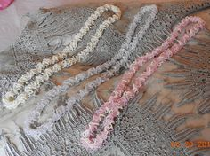 """Netted """"Wave"""" Necklaces. $200 Wave, Necklaces, Beads, Hair Styles, O Beads, Beading, Chain, Pearls, Hair Makeup"""