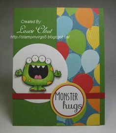 SC489, Monster Hugs! by virgo5 - Cards and Paper Crafts at Splitcoaststampers