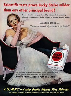 Marlene Dietrich for Lucky Strike