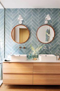 Loft Bathroom, Upstairs Bathrooms, Bathroom Renos, Laundry In Bathroom, Bathroom Inspo, Small Bathroom, Master Bathroom, Bathroom Ideas, Modern Bathroom Tile