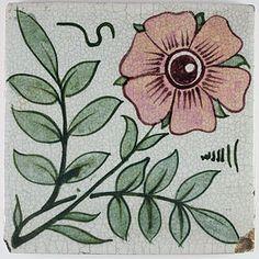 William de Morgan Arts and Crafts tile c. 1888