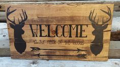 Welcome to our Neck of the woods wooden sign - pinned by pin4etsy.com