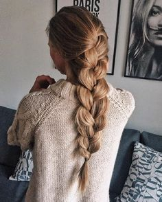 52 Trendy Chic Braided Hairstyle Ideas You Should Try - big braid hairstyle #braids #hairstyles