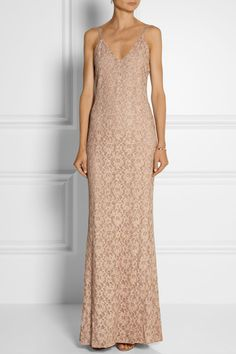 ALICE + OLIVIA Laura cotton-blend lace maxi dress $395