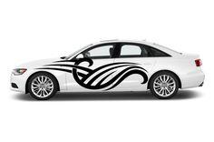 Auto Vinyl Art Pattern Mural Decal Car Window Sticker Premium 4 Season All Weather Sport Truck Door Tribal Stripes Racing Speed AF43