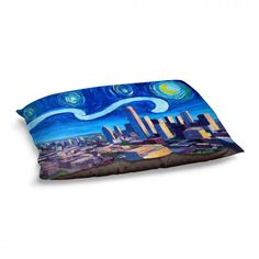 Starry Night Seattle DiaNoche Designs Tote Shoulder Bags by Markus Bleichner