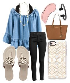 """""""You look so perfect standing there"""" by jadenriley21 on Polyvore featuring Charlotte Russe, Tory Burch, Casetify, MICHAEL Michael Kors, NYX and Kendra Scott"""