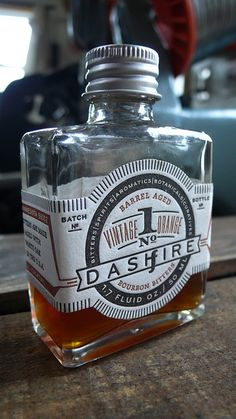 Dashfire Bitters Vintage Orange letterpress label by Smokeproof Press
