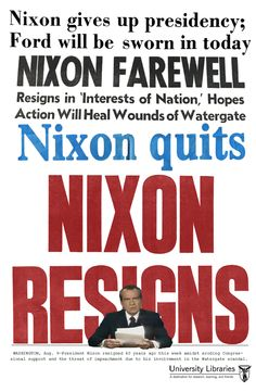 Forty years ago this week a truly singular event occurred: a sitting U.S. president resigned from office. Learn more about President Nixon and Watergate with materials from Bracken Library's new lobby display.