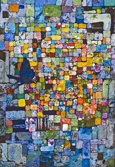 Wow!!!! Love the colors in this! Would be lovely as a mosaic. www.wendellfiock.etsy.com #art #painting