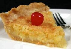 Ingredients: 1 1/2 cups sugar 1/2 cup butter 1 cup crushed pineapple 3 tablespoons flour 1 teaspoon vanilla 2 eggs 1 unbaked pie shell Directions: Beat together all ingredients. Pour into unbaked pie shell and bake 50 minutes in 350 degree oven or until it sets and is brown.