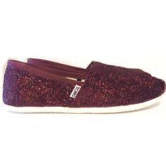Womens Sparkly Burgundy Maroon Glitter Toms Flats shoes www.glittershoeco.com  Burgundy Wedding Shoes. Glitter Shoe Co 68b70e949