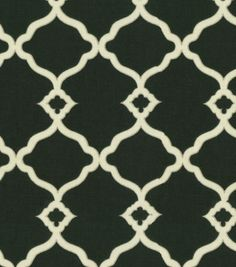 Upholstery Fabric-Waverly Chippendale Fretwork Onyx...for the kitchen bench area.