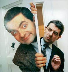 Mr Bean and Rowan Atkinson Mr Bean, Rowan, Vintage Photographs, Vintage Photos, Johnny English, Out To Lunch, Sports Photos, Press Photo, Us Images