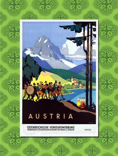 Austria Travel Poster Wall Decor 7 print by TheWorldTravelers