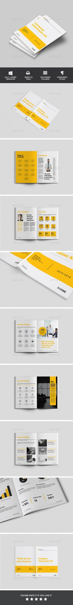 Brand Manual Brochures Design And Brochure Template
