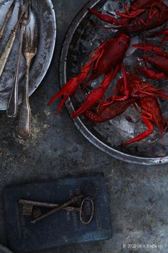 oooh lobster!! love the dark tones and that burst of red in this photo.....  #JoesCrabShack