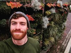 "Dillon North on Instagram: ""I love finding new little places in my city. #livingwall Bloom Where Youre Planted, Ginger Men, Flower Wall, Floral Flowers, Eye Candy, Crochet Earrings, City, Instagram, Places"